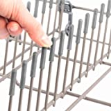 The ORIGINAL Smith's Dishwasher Rack Caps (Set of 100, Colour: Grey, Material: PVC) - Dishwasher Protection Prongs | Fits All Dishwasher Models | Made in the EU | 1 Year