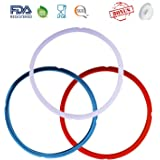 Silicone Sealing Ring with Bonused Sealer - Instapot Silicone Seal Ring Replacement - Color Coded with 3 Different Colors - Easy to Clean - Perfect Accessory for 5/6 qt Instant Pot