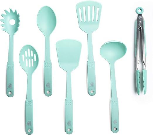 CC001729-001 Nylon Cooking Set Turqouise Turquoise 7pc Utensil 7-Piece