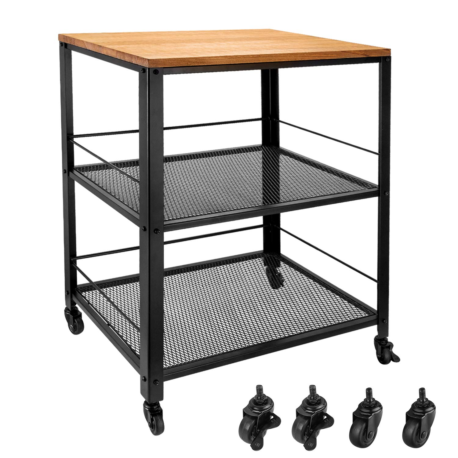 Amazon.com: Vintage Serving Cart, 3 Tier Rolling Utility ...