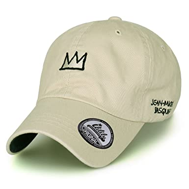 ccc3dc3c Jean-Michel Basquiat Cotton Cute Crown Embroidery Curved Hat Baseball Cap  (ballcap-1345-5): Amazon.co.uk: Clothing