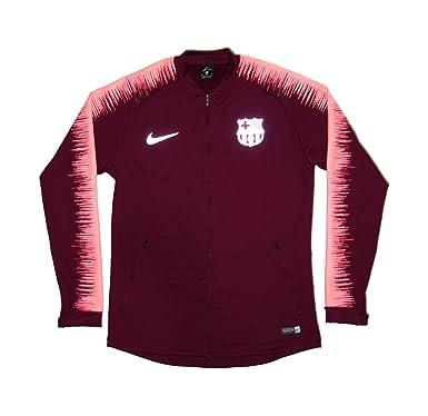 Men s Official 2018-2019 FC Barcelona Anthem Jacket 894361-669 Maroon (Small ) b89f1e24d