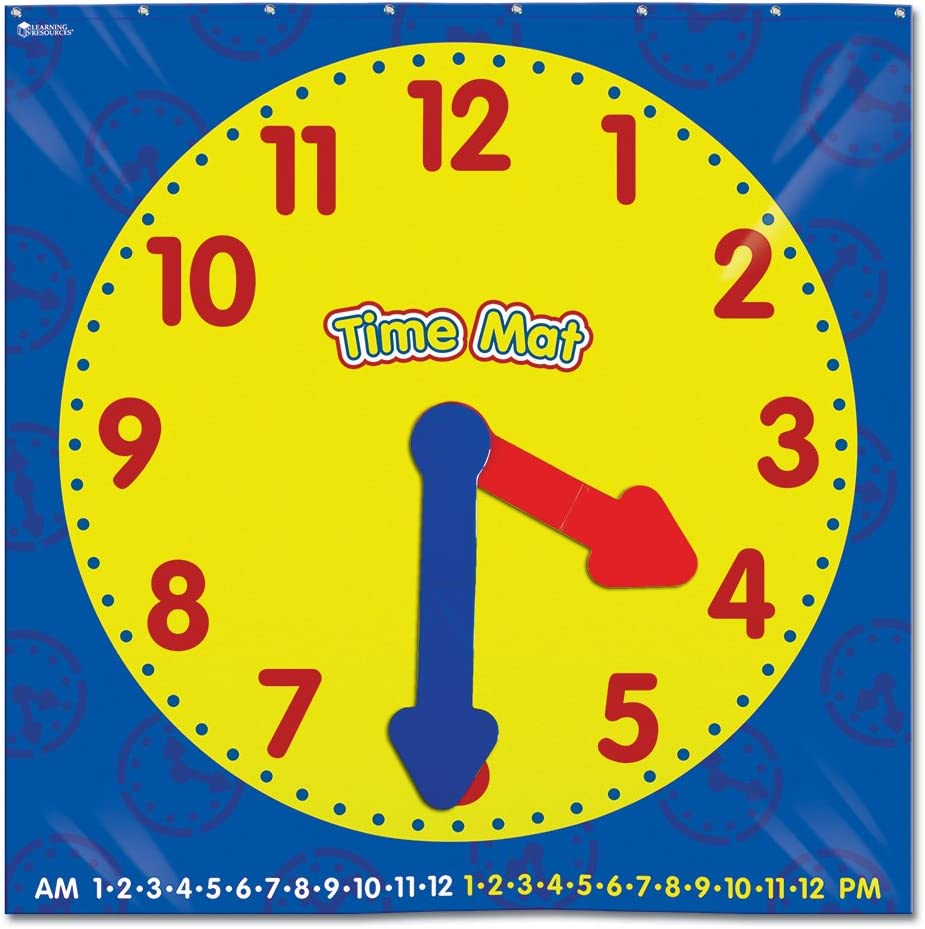 Learning Resources Encourage Hands-on Exploration of time with This Activity Floor mat