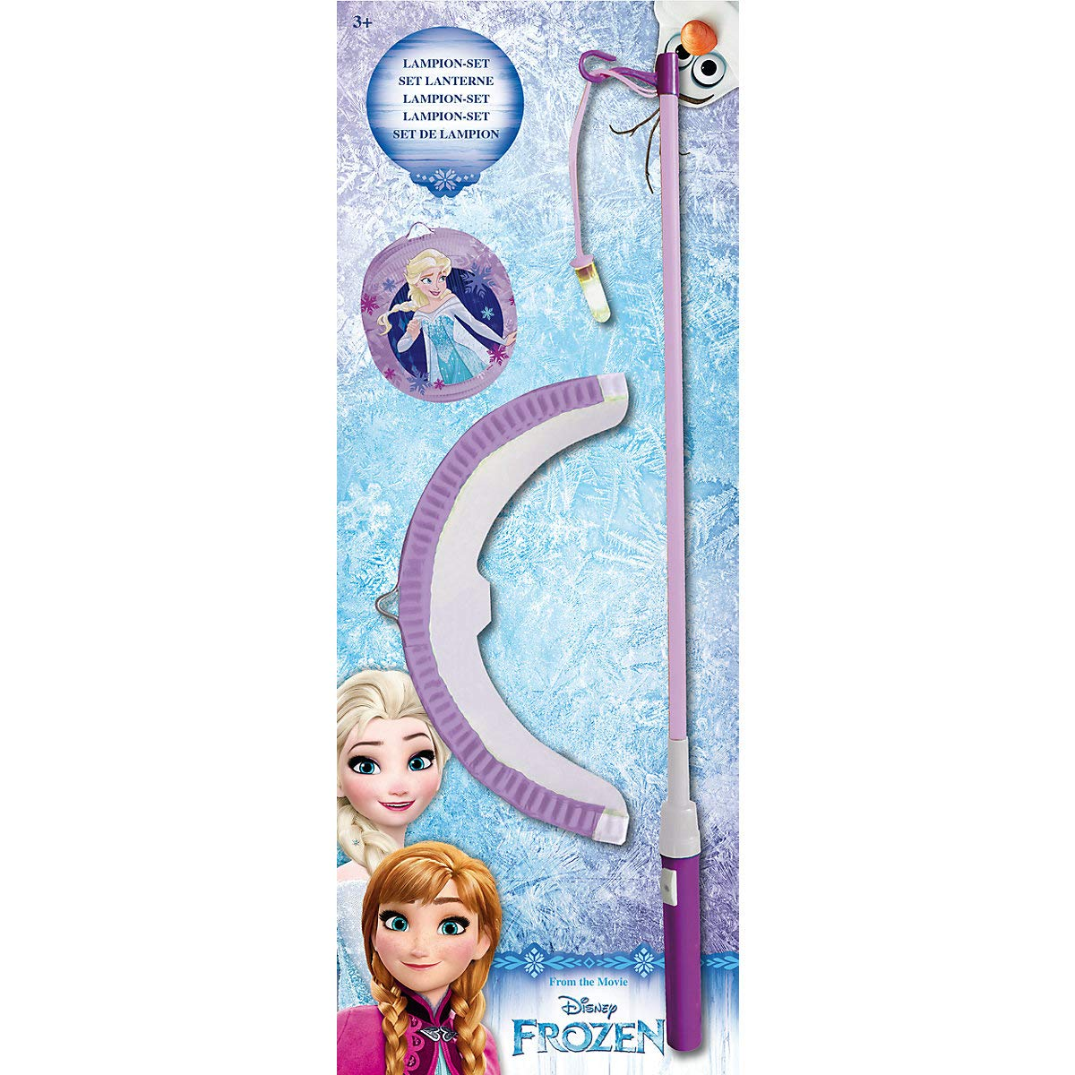 p:os Frozen ELSA Laternenset f/ür Kinder mit elekronischem Laternen-Stab
