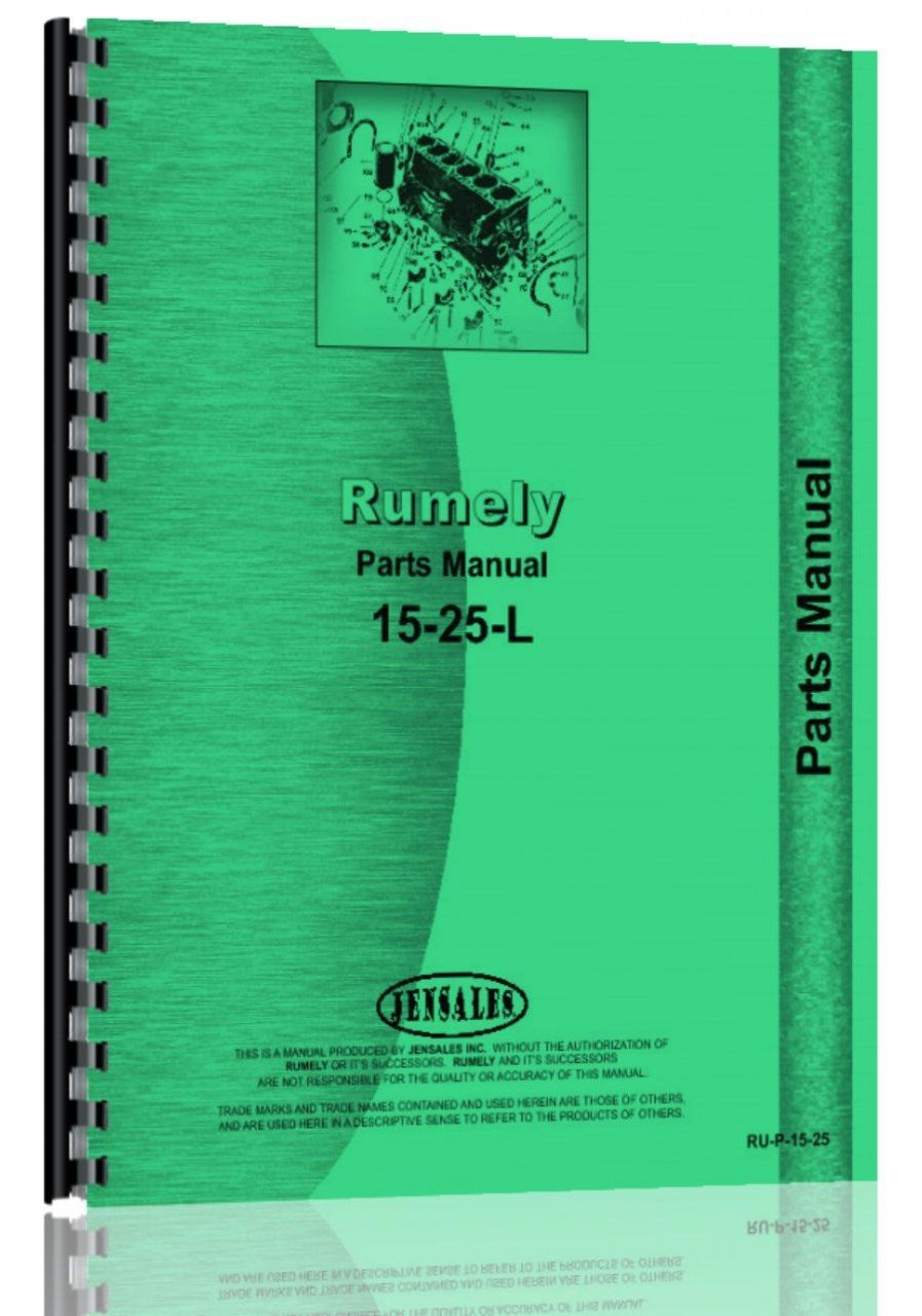 Download Rumely 15-25-L Oil Pull Tractor Parts Manual pdf