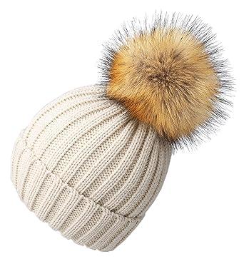FURTALK - Ensemble bonnet, écharpe et gants - Fille - Beige ... affcd37dcd6