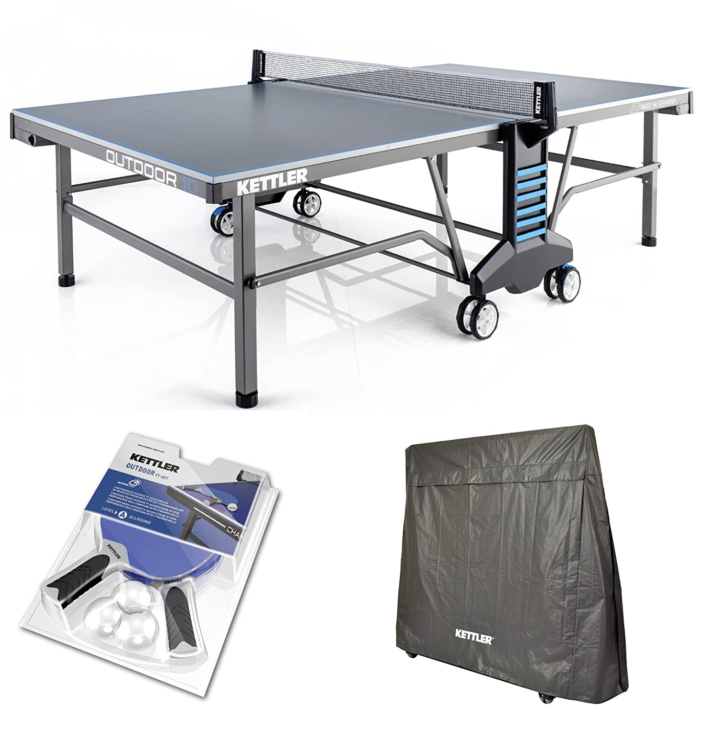 Amazoncom KETTLER Outdoor 10 Table Tennis Table wAccessories