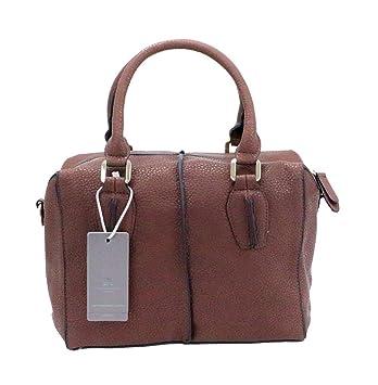 639309cb2 Paula Rossi - Bolso estilo bolera para mujer, Coffee (Marrón) -  228-1-coffee-wr14f2: Amazon.es: Equipaje