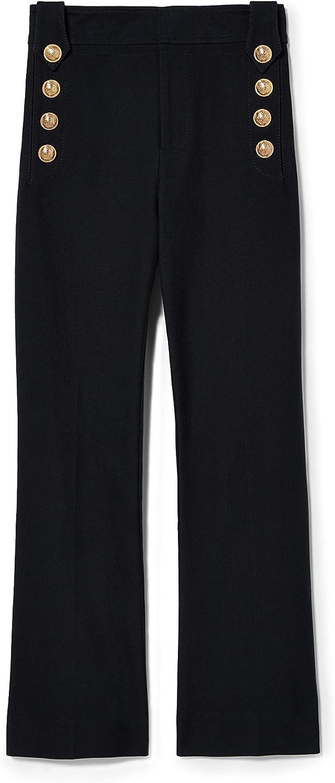 Derek Lam 10 Crosby Women's Cropped Flare Trouser W/Embroidered Hem