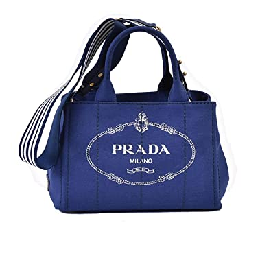 811e4d464216 Amazon | (プラダ) PRADA トートバッグ 1BG439 ZKI CANAPA M ブルー ...