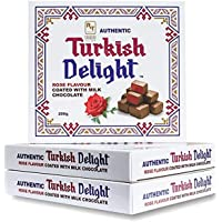 Authentic Turkish Delight Turkish Delight - Rose with Milk Chocolate, 200 g