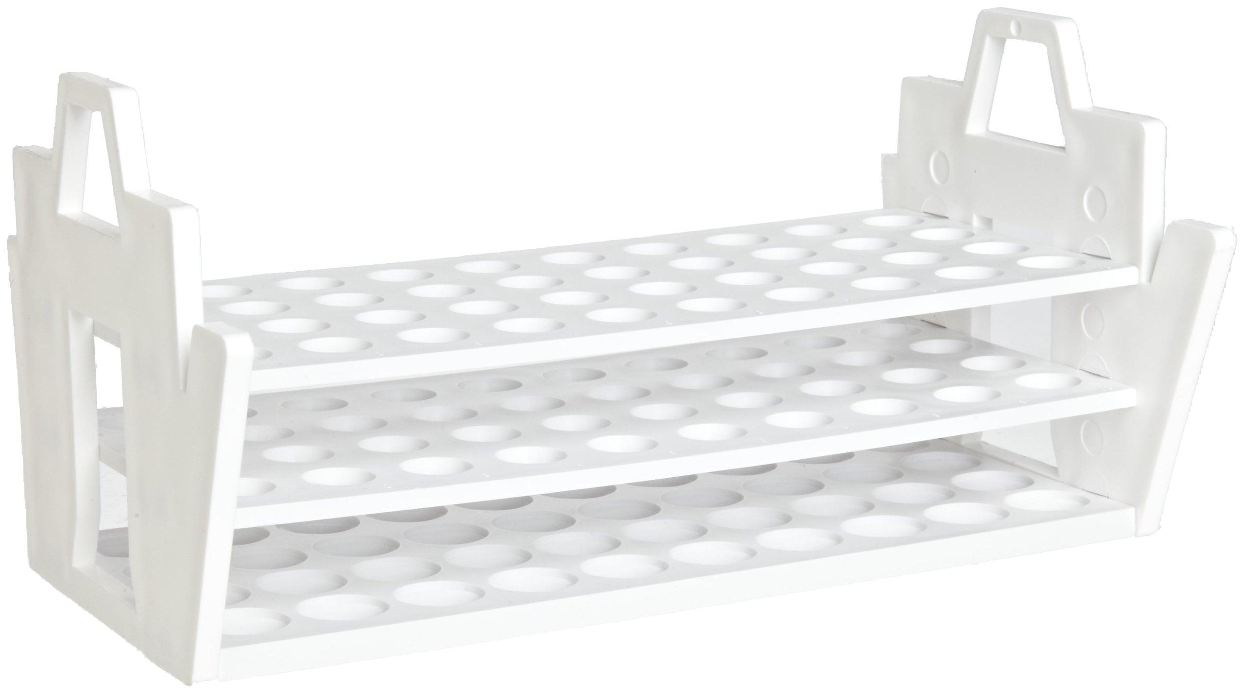 Bel-Art F18890-0016 Slant Rack; 13-16mm, 40 Places, 10¹/₂ x 6 x 5¹/₈ in., Polypropylene