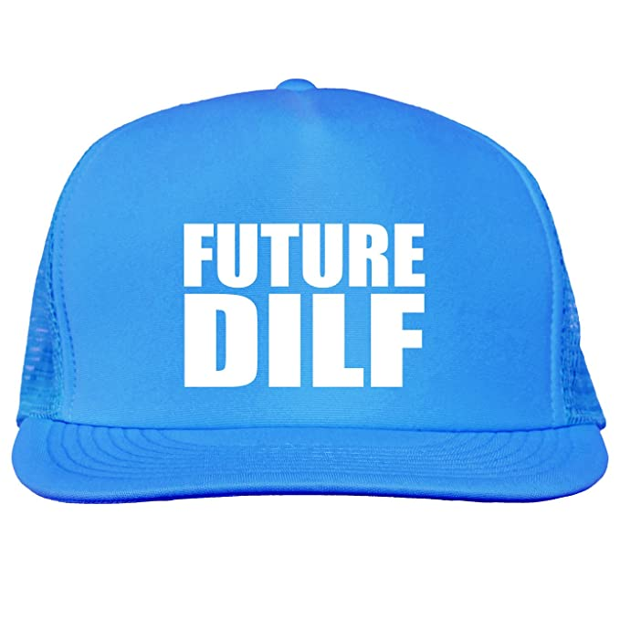 Future DILF Bright neon truckers mesh snap back hat in Neon Blue - One Size f2fdcaffcf94