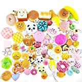 JETTINGBUY 30 Pcs Soft Squishy Toys, Slow Rising Squishy Charms Squeeze Toy