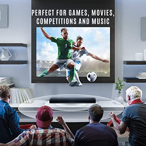 Barras de Sonido para TV, Nueva Bluetooth 5.0, Profesional Sonido Envolvente Altavoz para TV/Home Cinema, Apoyo RCA/AUX/óptico/USB/TF Tarjeta, Compatible para TV, Moviles, Tableta,Montable en la Pared: Amazon.es: Electrónica