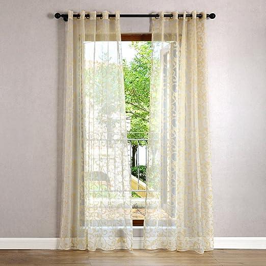 Vorhang Transparent Lommer 2er 140x240cm Gardinen Set Jacquard
