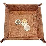 Boshiho Cork Jewelry Catchall Key Coin Box EDC Valet Tray Change Caddy Bedside Box Storage Eco-friendly Gift