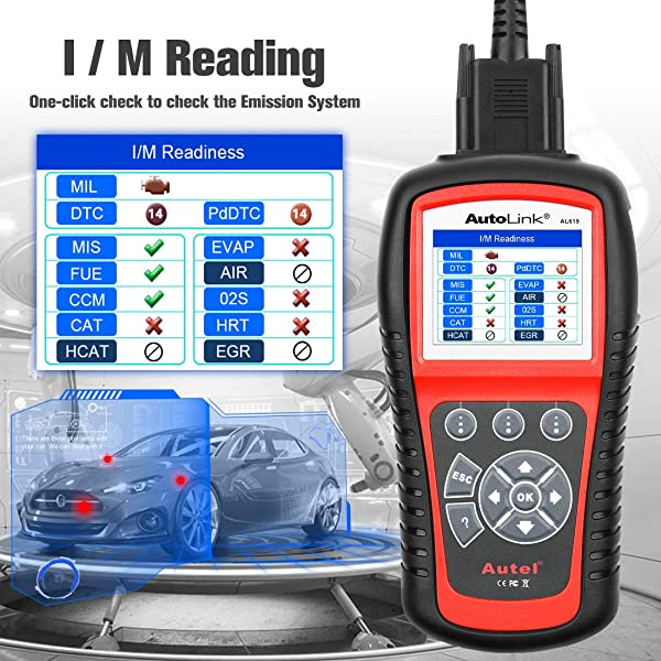 The AL619 performs a number of OBD2 functions