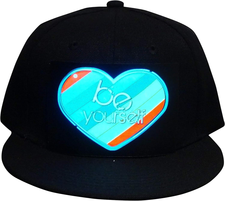 Firedancekid Men Women Bluetooth LED APP Controlled Baseball Hat Message Display Hip Hop Cap