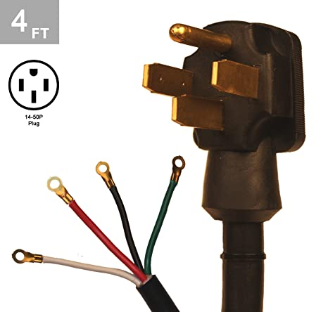 4 Wire Range Cord | Amazon Com Tes 4 Ft 8 2 10 2 40 Amp 4 Wire Range Cord Kit Appliances