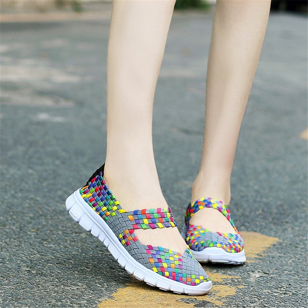 YMY Women's Sneakers Woven Sneakers Casual Lightweight Sneakers Women's - Breathable Running Shoes B07D5TQ142 US B(M) 8.5 Women|Multicolor 9b39e0