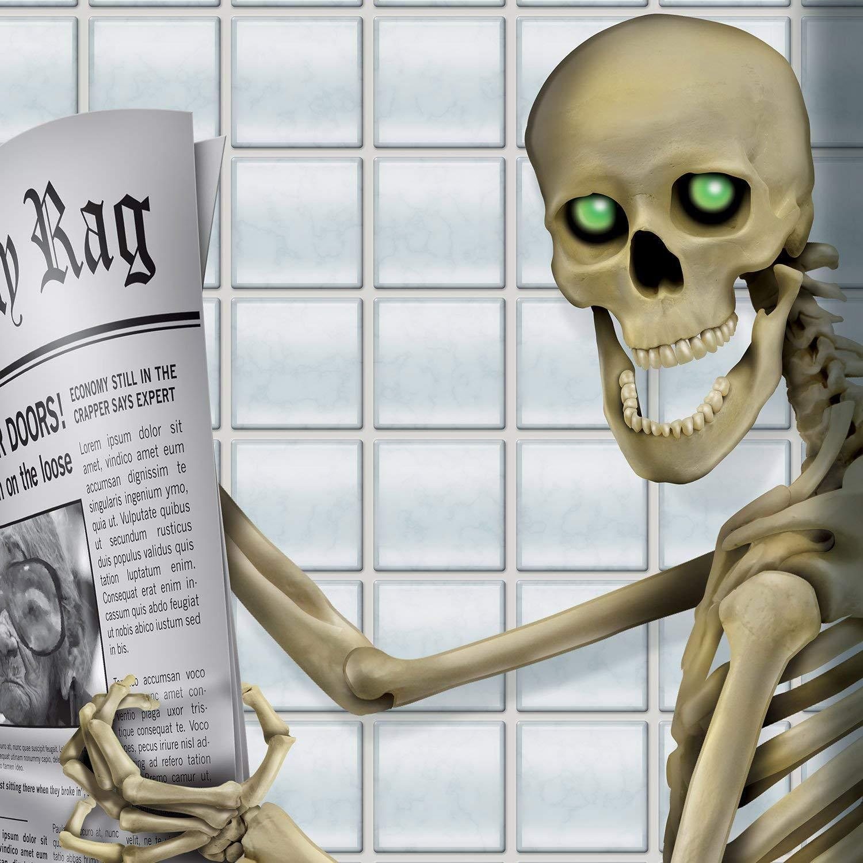 130CM Scheletro Tuopuda Adesivo porta di Halloween Adesivo per porta di scheletro Poster in plastica Decorazione per feste 76