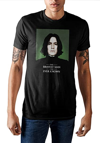 Bioworld Harry Potter Severus Snape The Bravest Man Ive Ever Known Mens T-