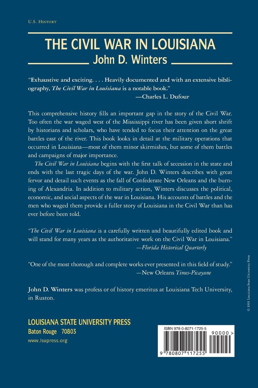 The Civil War in Louisiana: John D. Winters, T. Harry Williams:  9780807117255: Amazon.com: Books