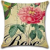 Decorativa almohada Vintage Rose flores primavera impresión Impreso