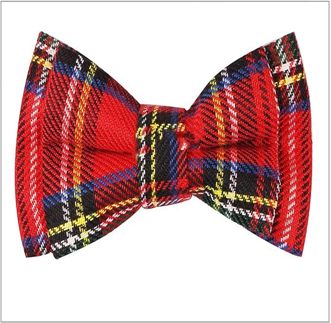 Laughingcv Nueva tela escocesa pajaritas para los niños corbata ...