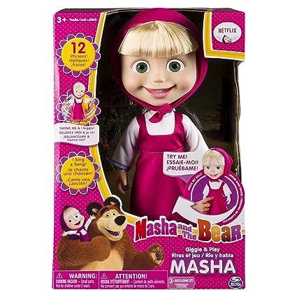 Amazon.com: Masha and The Bear - Muñeca interactiva de 12.0 ...