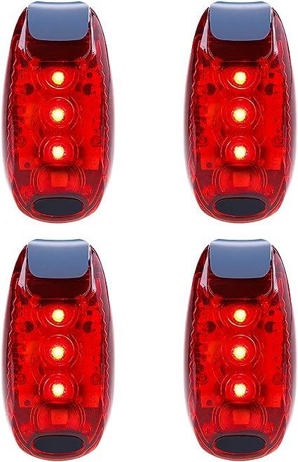 Waterproof Red Flashing Bike Cycling LED Rear Safety Light Warning Tail Lamp New