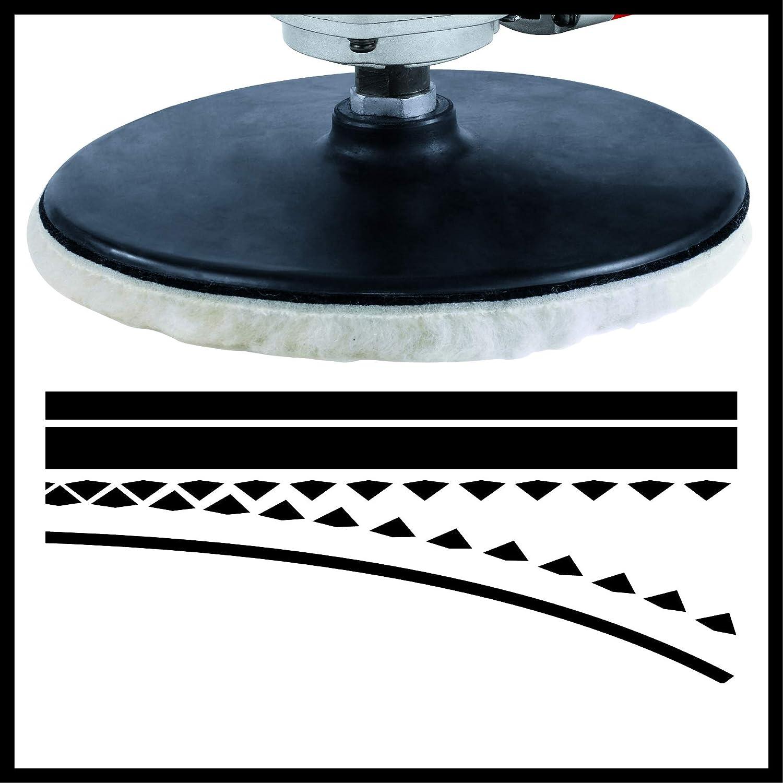 1100 W,Diam/ètre plateau : 180 mm, Livr/é en coffret avec 1 mousse de polissage, 2 bonnets de polissage synth/étique, 6 x abrasifs Einhell Polisseuse dangle CC-PO 1100//1 E