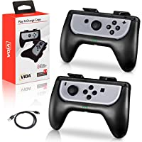 Nintendo Switch Joy Con Charge Grip [Upgraded Version], Controller Grip & Built-In Battery Pack,Wear-resistant Handle…