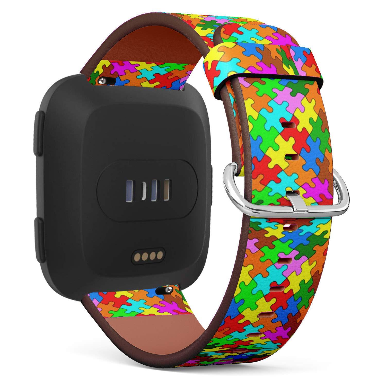 【送料0円】 Fitbit Versaに対応 - - ストラップ クイックリリース レザーバンド ブレスレット ストラップ Fitbit リストバンド 交換用 - ジグソーパズル B07PT9W9P6, 湯沢市:659e12d4 --- a0267596.xsph.ru