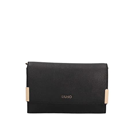 Liu Jo Jeans LIU JO A68167 E0087 Pochette Donna Nero TU  Amazon.it ... b612c0fb800