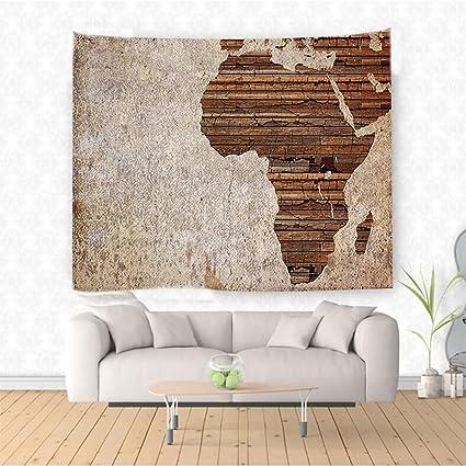 Nalahome Africana Decoración Geografía Tema Grunge Vintage Madera