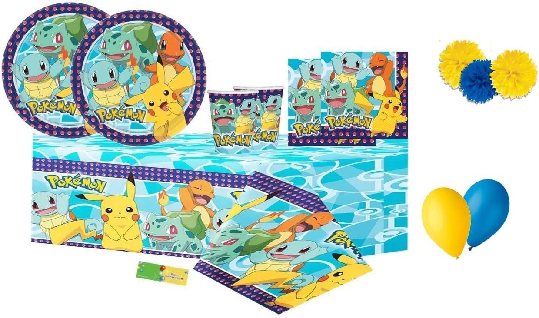 ipt Kit n. 49 Decoraciones coordinadas de la Fiesta de la Mesa de Pokemon: Amazon.es: Juguetes y juegos