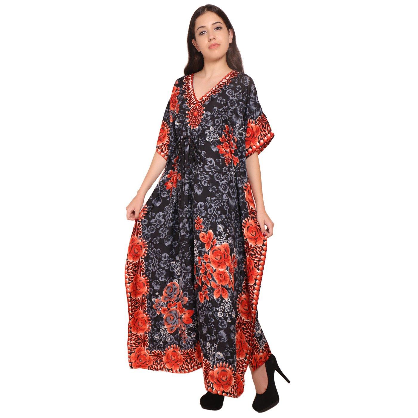 Amazon.com: Vestido de mujer estilo túnica indio para verano ...