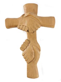 Entwined Hands Wall Cross - The Hands of the Lord - Ideal Confirmation, Christening /