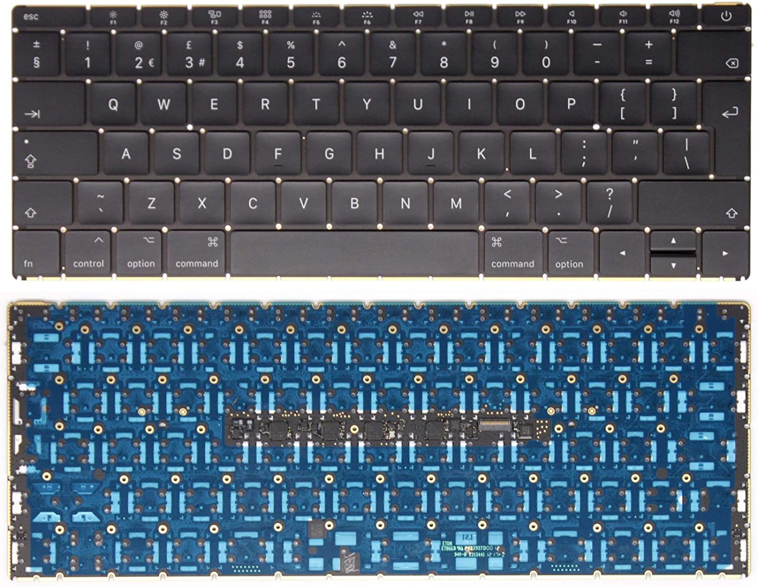 Processor M3-7Y32 I7-7Y75 Laptop English Backlit Keyboard UK Shipping EMC 3099 AJParts New UK Layout Keyboard Compatible For Mac book A1534 I5-7Y54