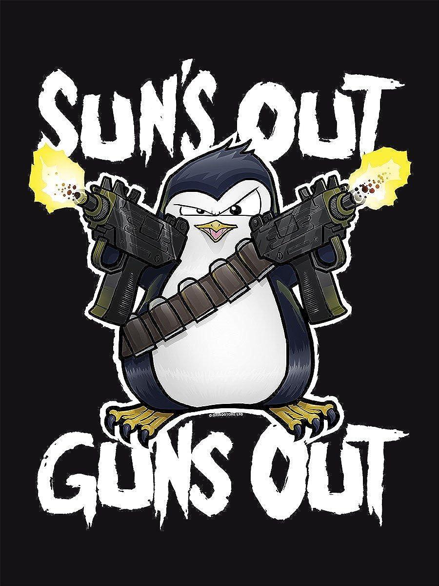 Psycho Penguin Mens Suns Out Guns Out Black Vest