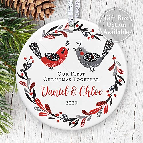 Wine First Christmas Together Ornament 2020 Amazon.com: Our 1st Christmas Together 2020 Ornament, Love Birds