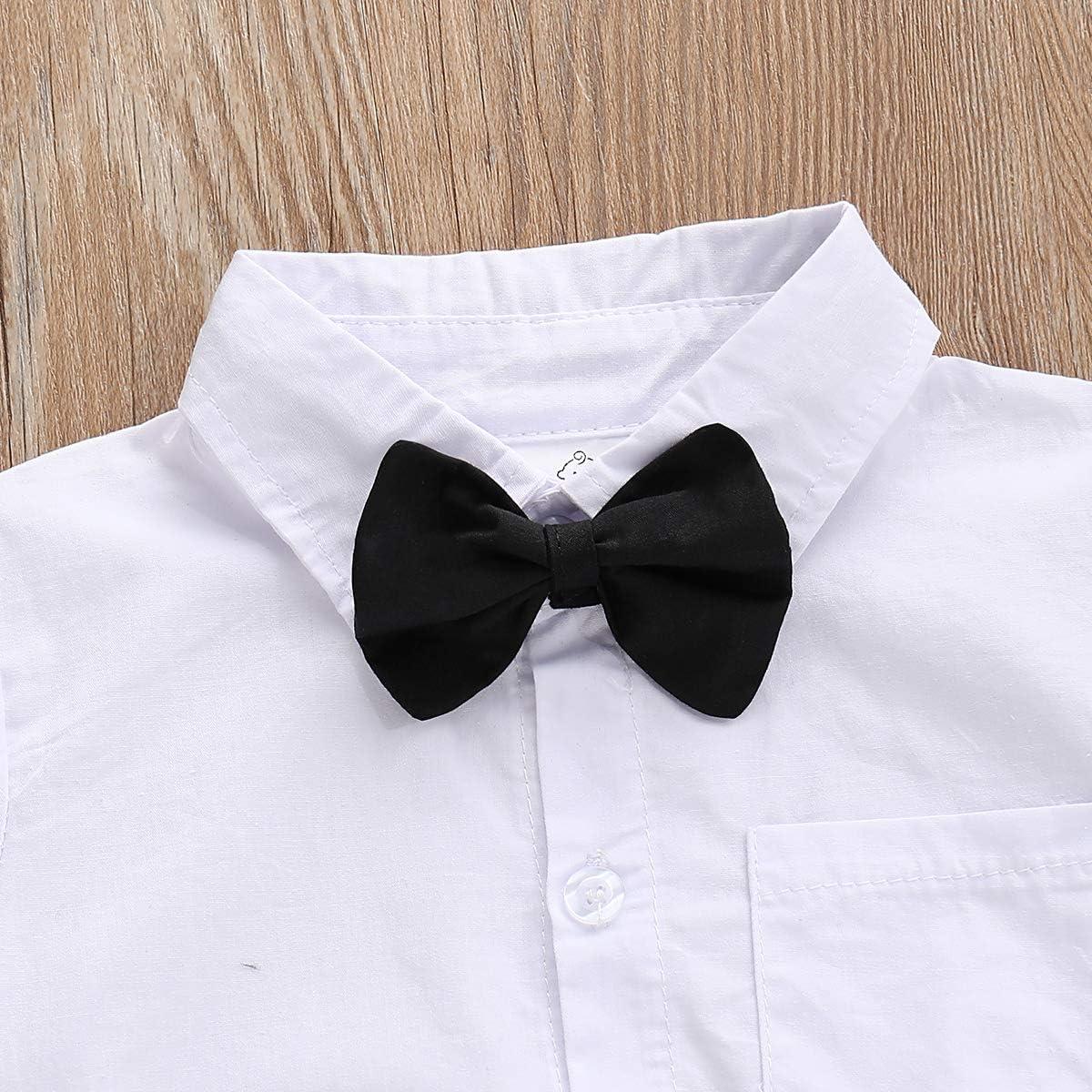 Camiseta de manga corta con botones y pajarita para caballero, para bebés, fiesta de cumpleaños, torta, sesión de fotos, boda, bautizo: Amazon.es: Ropa y accesorios