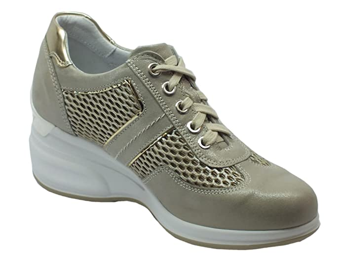Nero Giardini P805213d Stars Savana Capra Ivory, Chaussures de Sport D'Extérieur Pour Femme - Beige - Savana Capra Ivory, 39 EU EU