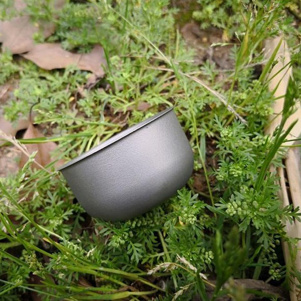 FLAMEER Mini Taza De Titanio para El T/é del Vino Agua Caf/é Port/átil Vajilla Tanque De Bebida Acampar Yendo De Patio Trasero