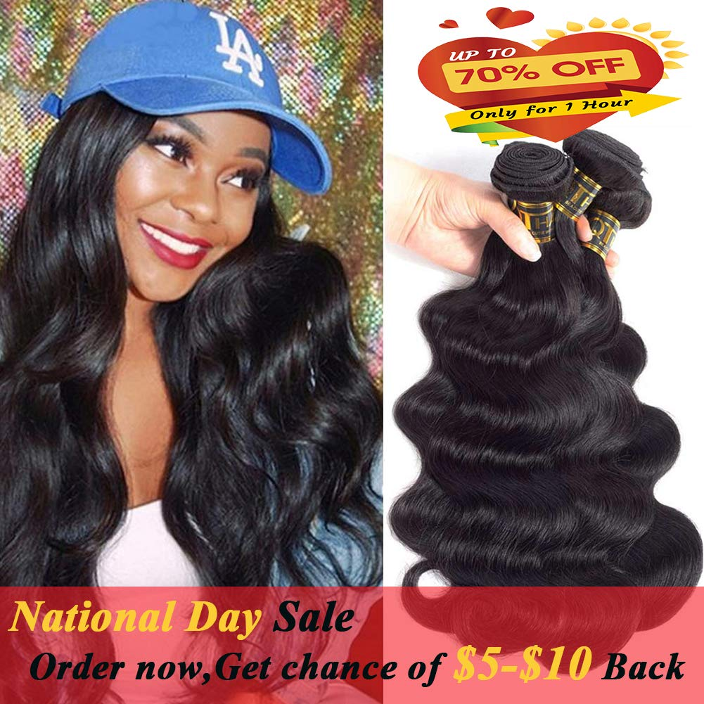 Amazon Brazilian Deep Wave With Closure 10a Grade 3 Bundles