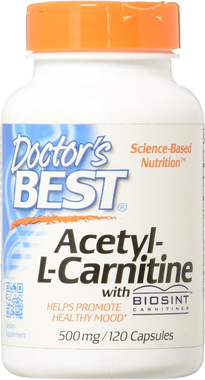 Acetyl-L-Carnitine with Biosint 500 Milligrams 120 Veg Capsules