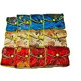 AKORD  12 X Jewellery Silk Purse Pouch Gift Bags, Porte-monnaie femme