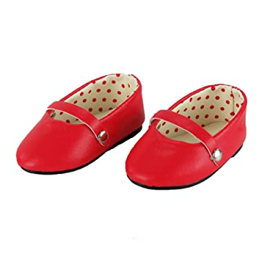 "18 Inch Red Ballet Flats -Fits 18"" american girl, Gotz, Our generation madame Alexander.: Toys & Games"